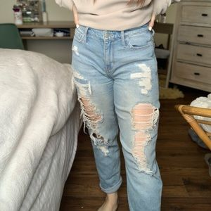 Ripped hollister mom jeans